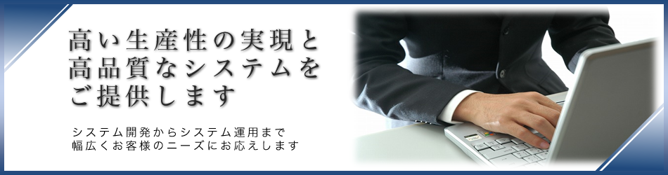 高い生産性の実現と高品質なシステムをご提供します